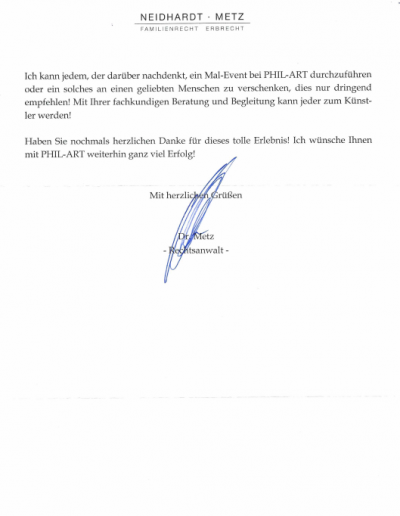 Herrn Dr. Bernhard Metz Seite 2